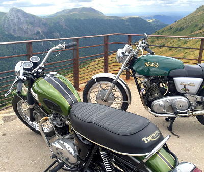Motorcycles in Auvergne